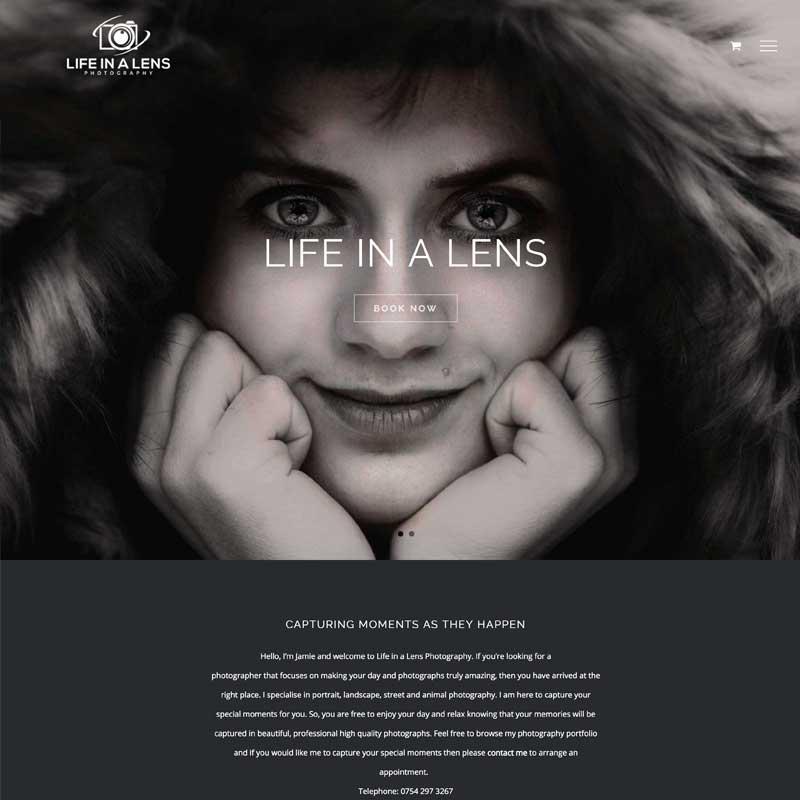 Life in a Lens Website