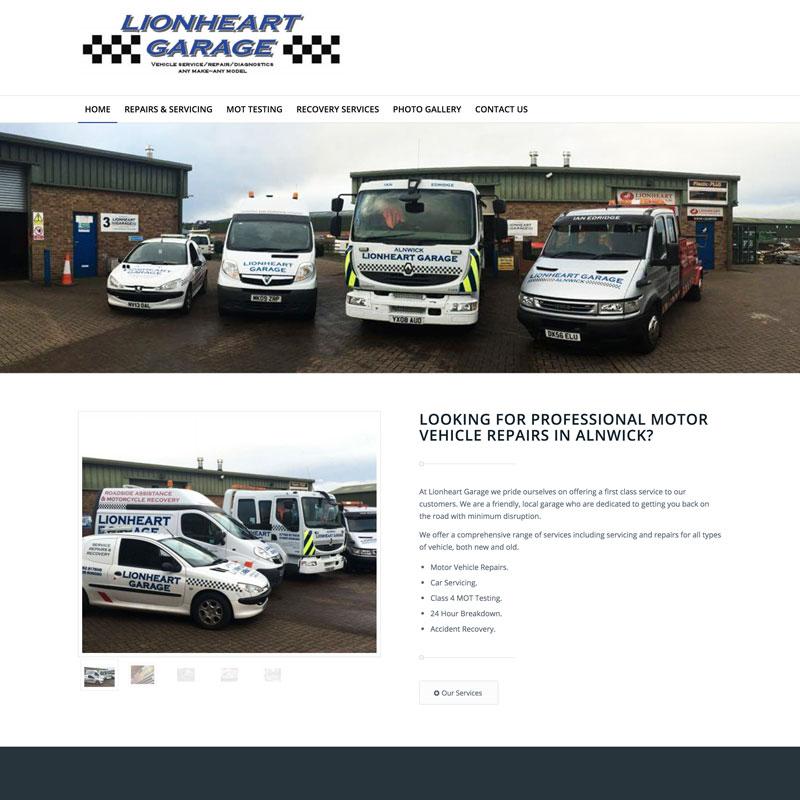 Website Launch – Lionheart Garage