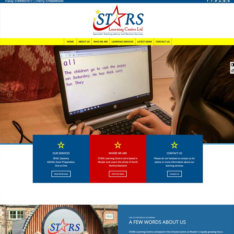 STARS Learning Centre Screenshot
