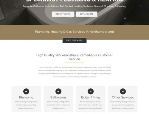 Website Redesign: Fiddes Plumbing