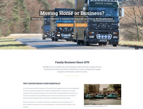 New Site: Brian & Sons Removals