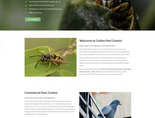 New Site: Collins Pest Control