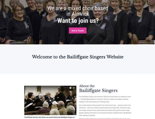 New Site: Bailiffgate Singers